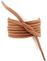 Les lacets Français - Lacets Ronds épais 3mm Coton Ciré Couleur Cuivre