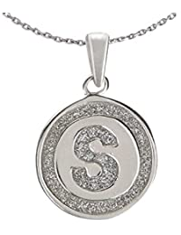 Ananth Jewels 925 Silver Letter S BIS Hallmarked Pendant With Chain For Men And Women