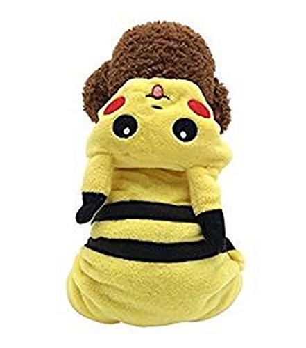 Hund Kleidung Jumpsuits Haustier Kleidung für Hunde Party Kostüm Schlafanzüge Hoodie Coat Warm (Pikachu Kostüm Tragen)