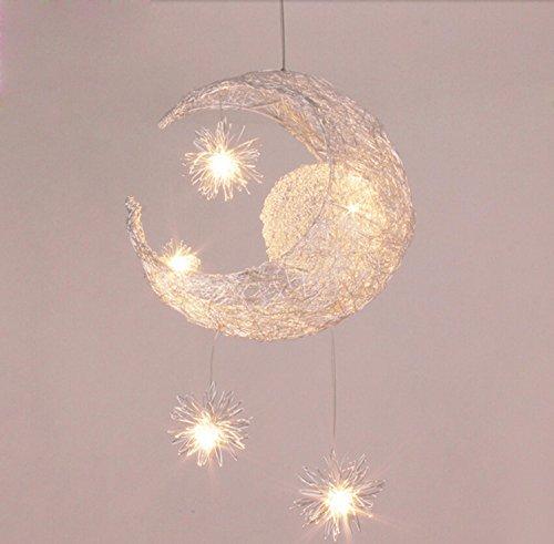 Star-decken-beleuchtung (GRFH Moderne personalisierte Moon Star Kronleuchter Kinder Schlafzimmer Lustres hängende Decke Lampe home dekorative Fixture Lighting)