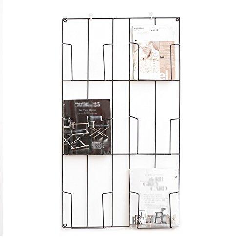 Porte-magazines et porte-journaux Étagères Contemporaines Murales Contemporaines Murales Suspendues Étagères Créatives En Fer Étagère Étagère Noire