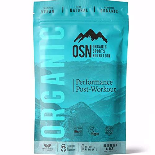 Organic Performance Post-Workout- Organische | 100% natürlich | Antioxidantien und Elektrolyte zur Verbesserung der Wiederherstellung Reparatur Heidelbeere und Acai 300g | 30 Portionen - Das Natürliche Kokoswasser