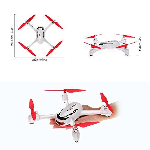 Goolsky Hubsan X4 Wunsch H502E 720P Kamera GPS RTF RC Quadrocopter Drohne mit Höhenmodus zurück zur Home Funktion - 3