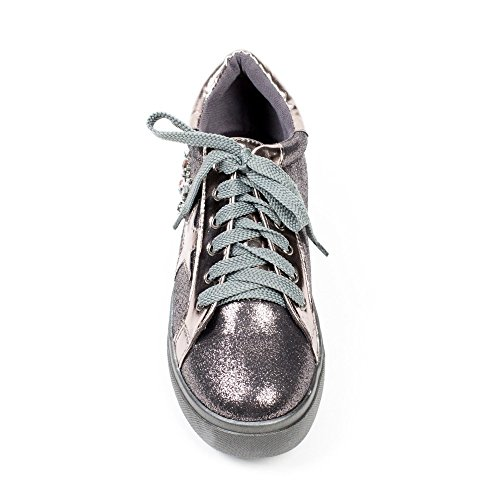 Ideal Shoes, Damen Sneaker Bronze
