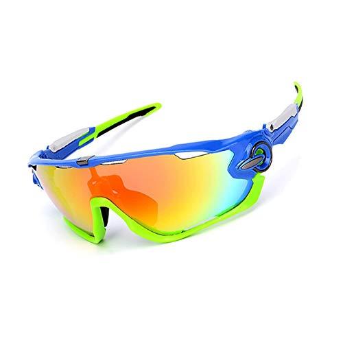 Bishilin Brille Winddicht Unisex Motorrad Brille Für Brillenträger Sonnenbrille Schutzbrille Blau Grün