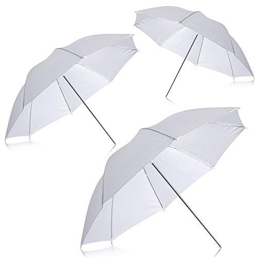 """Neewer Nueva Fotografía Profesional 33""""83cm iluminación del Estudio reflexivo de Flash Translucent White Umbrella Suave (Cantidad: 3)"""