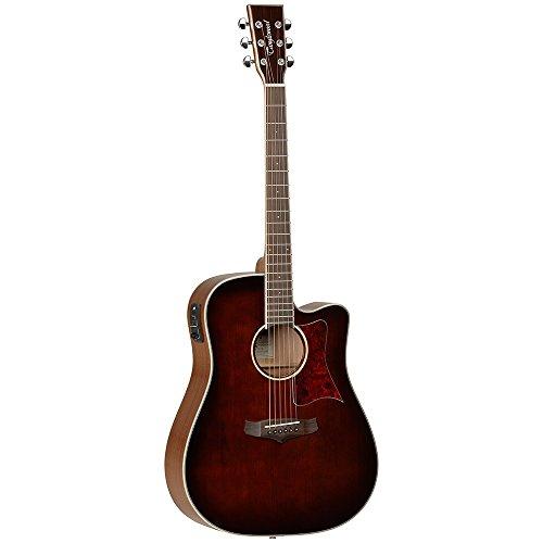 Tanglewood TW5WB–Guitarra electroacústica dreadnought cutaway superior de cedro macizo con ecualizador