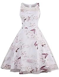 Dissa M1399 Damen Rockabilly 50er Vintage Retro Kleid Partykleider Cocktailkleider