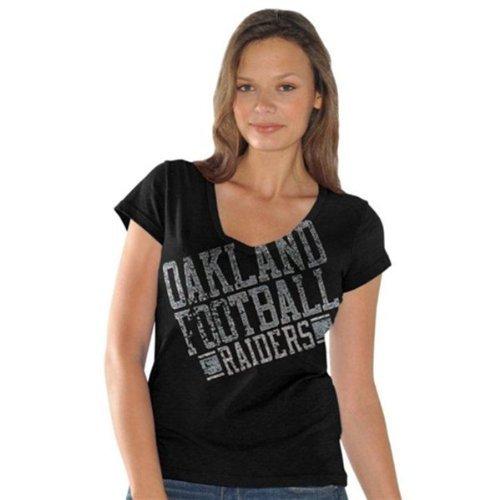 G-III Sports Oakland Raiders Fanfare Damen V-Ausschnitt T-Shirt, Damen, X-Small