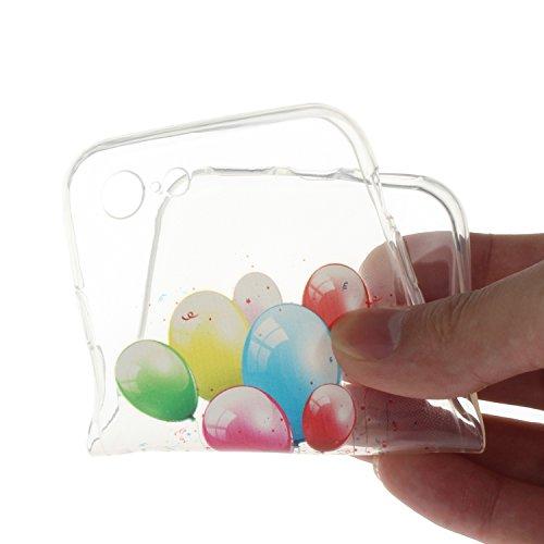 """Für iPhone 7 4.7"""" [Scratch-Resistant] Weichem Handytasche Weich Flexibel Silikon Hülle,Für iPhone 7 4.7"""" TPU Hülle Back Cover Schutzhülle Silikon Crystal Kirstall Durchschauen Clear Case,Funyye Ultra  Bunter Ballon"""