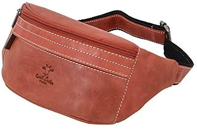 """Gusti Cuir studio """"Spencer"""" sacoche cienture sac banane sac de tous les jours homme femme cuir de buffle rouge 2G7-22-10"""