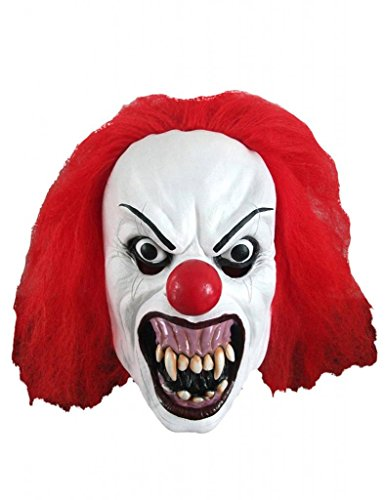 Knurren Terror Clown Maske Erwachsene Latex Maske Halloween Fancy Dress Partei