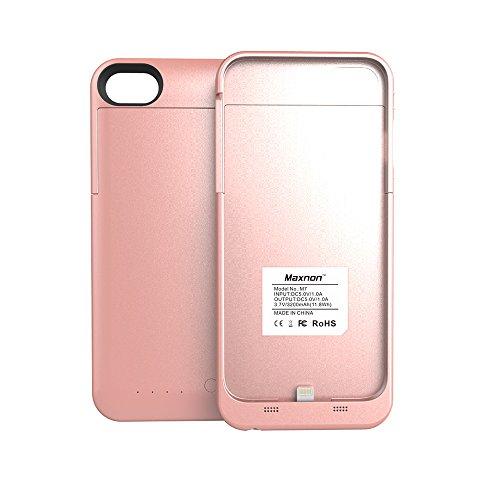iPhone 7 Akku Hülle LifeePro 3200mAh Ultra Dünn Externer Akku Case Aufladbar Batterie Ladehülle Integrierten Ersatzakku Ladegerät Power Bank Backup Extra Pack Schutzhülle für iPhone 7 3200mAh Rose Gol Rose Gold