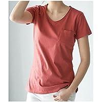 TAIDUJUEDINGYIQIE Mujeres Camiseta de Manga Corta Color sólido Suelto, Rojo ladrillo, XL