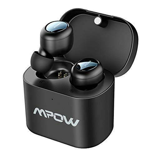Mpow Auricolari Bluetooth TWS T2, Auricolari Wireless 5.0 True TWS Due Mini Cuffie in-Ear Wireless, Auricolari Mini da 15 Ore per iPhone/Samsung/Huawei/iPad iOS Android ed Altro