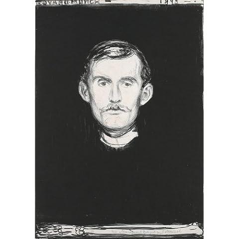 Edvard Munch Autoritratto con scheletro Braccio C1895Riproduzione artistica formato A3