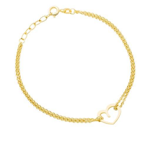 Tresor 1934 Bague femme Bague de fian/çailles Solitaire Argent Sterling 925//1000 dor/é or jaune Oxyde de zirconium blanc 60451019