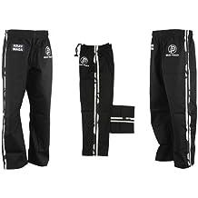 Krav Maga Combat Black W/ 2 Urban Camo Stripes - Cotton - 3/160CM