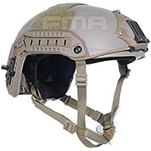 Táctica Militar Ejército SWAT Combate de disparo CQB Ballistic ajustable Marítimo 10–Casco de protección de fibra de nivel de aramida de Kevlar de bronceado, dos tamaño: M/L, L/XL, DE
