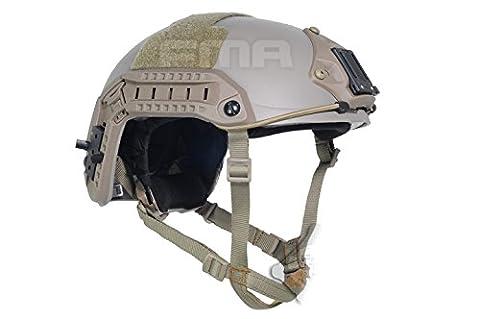 Tactique Militaire Armée CQB Tournage Combat Balistique Réglable Maritime 10 Niveau de KEVLAR Aramide Fibre de Protection Casque DE, Deux Taille: M / L, L / XL (M /