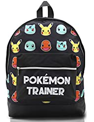 Pokemon Large Backpack for Boys and Girls Charmander Bulbasaur Pokemons Trainer Rucksack Kids Pikachu Cards Travel Bag