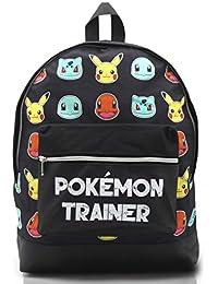 Pokemon Large Backpack for Boys and Girls Charmander Bulbasaur Pokemons  Trainer Rucksack Kids Pikachu… d4a157a2fd0c1