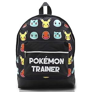 Mochila Pokemon Escolar Let's Go Pikachu Charmander Bulbasaur para Niños Niñas