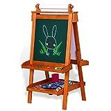 Tavolo da disegno per bambini lavagna magnetica lavagna per l'impalcatura domestica lavagna per disegnare graffiti per bambini e bambine può essere alzata e abbassata ( Color : Walnut color )