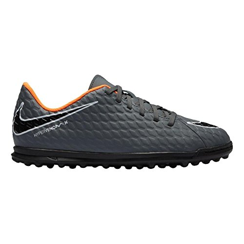 Nike Jr Phantomx 3 Club Tf, Scarpe da Fitness Unisex-Adulto, Multicolore (Dark Grey/Total Oran 081), 38.5 EU