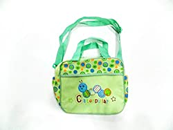 green caterpiller patch mother bag small