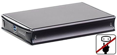 Xystec Externe Gehäuse SATA: Netzteilloses USB-3.0-HDD-Gehäuse für 3,5