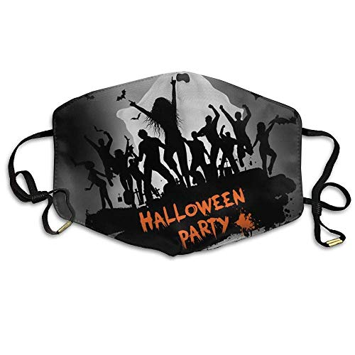Cool Gift,Soft and Durable Mund Maske Unisex Grunge Halloween Party Background Anti Germs Breathable Health Mund Maskes Mouth Face Mund Maskes ()