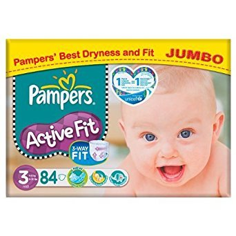 Pampers Active Fit Größe 3 (4-9kg) Jumbo Pack 84 pro Packung