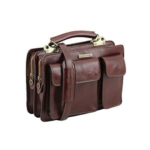 Tuscany Leather - Tania - Sac à main en cuir Marron - TL141270/1 Marron foncé