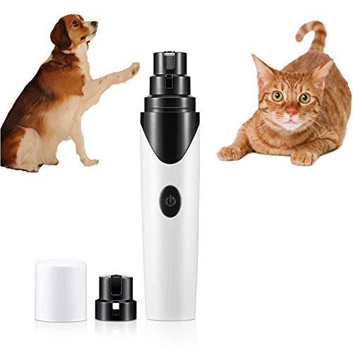 DJLOOKK Elektrische Haustier Nagelknipser,Trimmen, Formen Und Glätten Von Hunden, Katzen, Kaninchen Und Vögeln - Tragbar Und Wiederaufladbar, Inklusive USB-Kabel