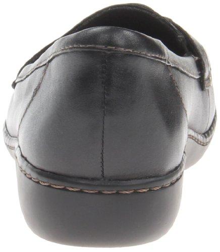 Clarks Ashland Bubble Toe Moc Leather Loafer Black