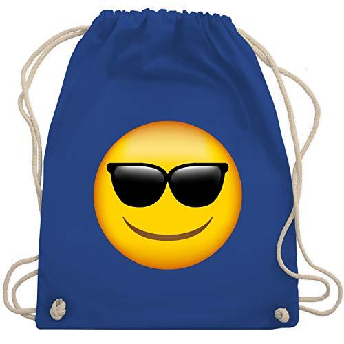 Comic Shirts - Emoji Sonnenbrille - Unisize - Royalblau - WM110 - Turnbeutel & Gym Bag