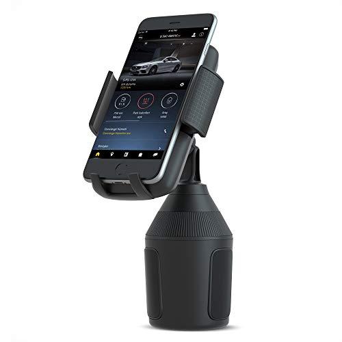 SEEKONE Universal Handyhalterung Auto Handyhalter für KFZ Getränkehalter Smartphone Montieren Durchmesser bis zu 5.7cm-8.9cm Kompatibel mit iPhone X MAX/XS/XR/X/8/7/7P/6s, Galaxy S6/S7/S8 und mehr