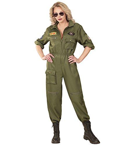 Widmann-WDM65543 Erwachsenenkostüm für Damen, mehrfarbig, WDM65543, - Top Gun Kleid Kostüm