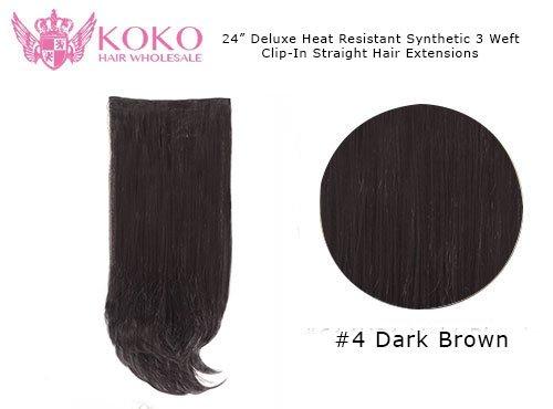 La chaleur de luxe résistant Extensions de cheveux synthétiques droites - 22\\