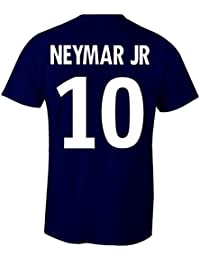 Neymar Jr 10 Club Player Style T-Shirt Navy/White