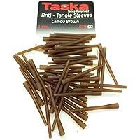 antienredos Taska mangas para pesca de carpas de camuflaje marrón