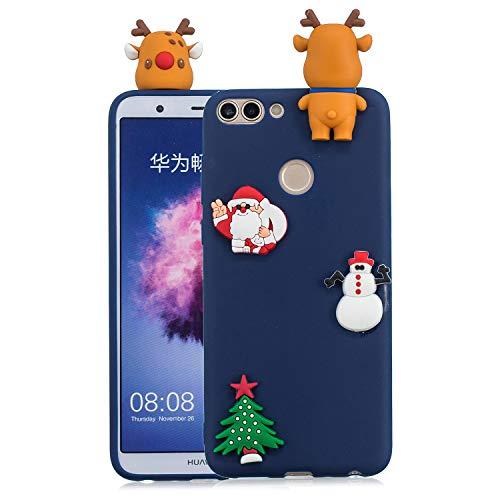 DiaryTown Regalo di Natale Cover per Huawei P Smart 2018 Silicone 3D Morbida Custodia Huawei P Smart Bella Disegni Case Antiurto...