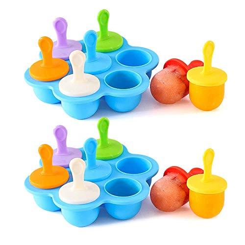 Hamkaw Popsicle Molds Silikon, Set Mit 14 Baby-EIS-Pop-Formen BPA-frei - Wiederverwendbarer Ice-Pop-Maker Mit Sticks Easy Release EIS-Gefrierfach Für Kinder Babys ? Erwachsene