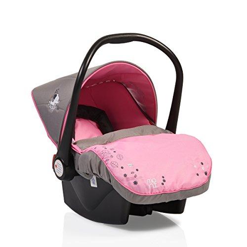 Kindersitz Babyschale Tala Gruppe 0+ (0 bis 13 kg), LB321 Fußabdeckung, Innenkissen (Rosa)