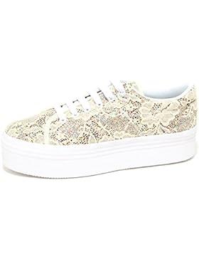 best cheap 54879 84c76 6844P sneaker zeppa JEFFREY CAMPBELL JC ZOMG LACE crema scarpa donna shoe  woman