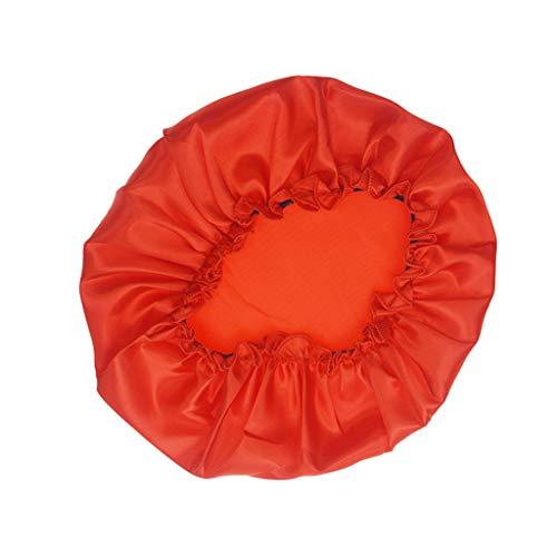 JUTOO Muslim Wind Silk Satin Pure Color Chemotherapie Kappe Baotou Cap Duschhaube - Schwarz Pure Cashmere Damen-handschuhe