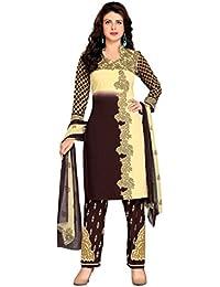 K Designer Women's Chiffon Unstitched Dress Material (Mehak4018a_Multi-coloured_Freesize)