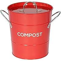 De Metal Kitchen cubo para Compost - cubo de basura de compostaje para guardar comida reciclado