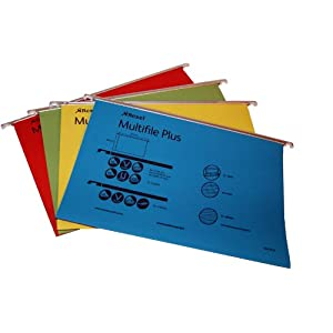 Rexel Multifile Plus Foolscap Suspension File, 15 mm - Assorted Colours, Pack of 20
